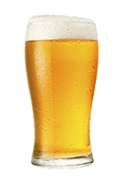 small pint of blonde pint beer