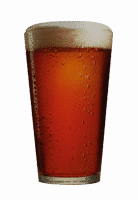 small pint red beer