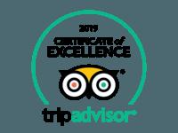 2019 Certificate of Excelence TripAdvisor